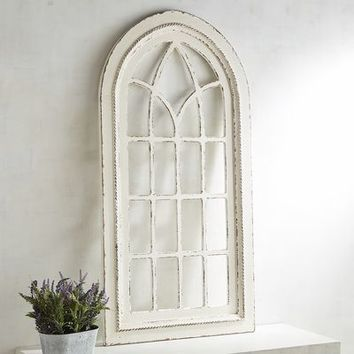 White Rustic Arch Wall Decor