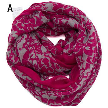Fashion scarf 2015 for women spring Cotton and linen Pastoral floral print long infinity scarfs for women scaves ,NL-2226
