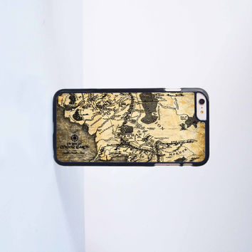 Lord of the Rings (Map of Middle Earth) Plastic Case Cover for Apple iPhone 6 Plus 4 4s 5 5s 5c 6