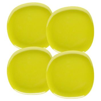 "Zak Designs Bamboo Dinner Plates (10"") Green - Set of 4"