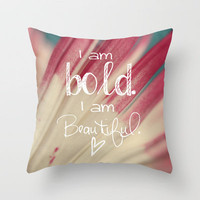 Bold and Beautiful Throw Pillow by Beth - Paper Angels Photography | Society6
