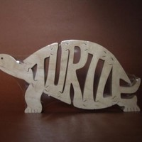 Turtle Wooden Puzzle Toy  Hand  Cut  with Scroll Saw