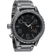 Nixon 51-30 Tide Gunmetal & Black Analog Watch at Zumiez : PDP