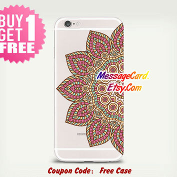 Mandala Clear Phone Case for iPhone 6 6s plus 6 6s 5s 5 4s 4 , Ctystal Clear iPhone 6 6s Case , Custom Clear iPhone 6 6s Case , Transparent