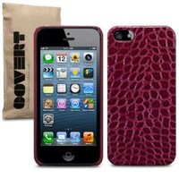 Covert Branded Red Pu Croc Skin Back Cover Case for Iphone 5