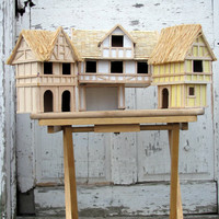 Beautiful Handcrafted Miniature Tudor Village/ Highly Detailed/ Set of 3/ Light Weight / Scale Doll House / Model Tudor Houses