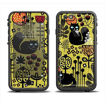 The Gold vector Fat Cat Illustration Apple iPhone 6 LifeProof Fre Case Skin Set