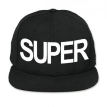 Superwoman - SUPER Black Snapback Hat