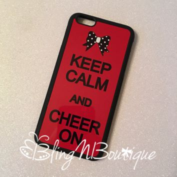 Keep Calm and Cheer On Phone Case