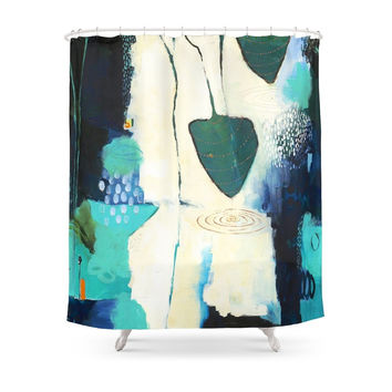 """Society6 """"Deep Sea Forest"""" Original Artwork By Flora Bowley Shower Curtains"""