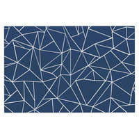 "Project M ""Abstraction Outline Navy"" Blue Abstract Decorative Door Mat"