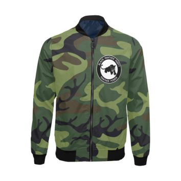 Black Panther Party, Camo - Lightweight Bomber Jacket