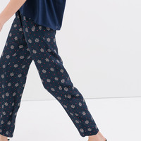 Loose fit trousers with elastic waistband