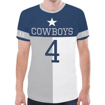 Dallas Football #4 State of Texas Flag Men's Mesh Jersey T-Shirt