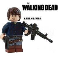 The Walking Dead CARL GRIMES Rick son zombie action minifigure made with lego