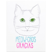 Meow-Chos Gracias Thank You Card