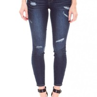 HAVANA DISTRESSED DENIM - JEANS & JEGGINGS - BOTTOMS - WOMEN - Foreign Exchange