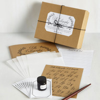 Handmade & DIY See You on the Script Side Calligraphy Kit by Chronicle Books from ModCloth