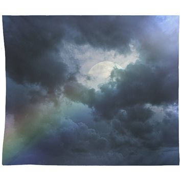 Rainbow Clouds and Moon  Wall Tapestry Yoga Meditation Mandala Wall Hanging
