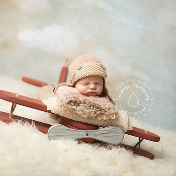 Wooden plane, Photography Prop, Photography Prop Airplane,Newborn Prop, Plane, Prop, Aviator, Aviator Prop