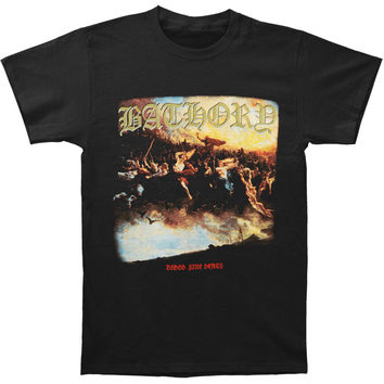 Bathory Men's  Blood Fire Death T-shirt Black Rockabilia