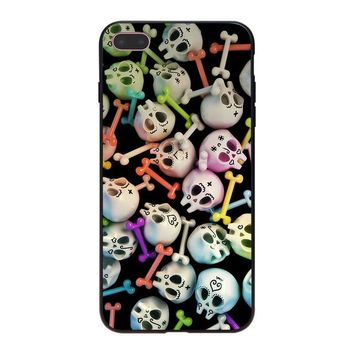 Skulls Gothic Art Super soft Phone Cases for iPhone 8 7 6 6S Plus X 10 5 5S SE 5C Coque Shell