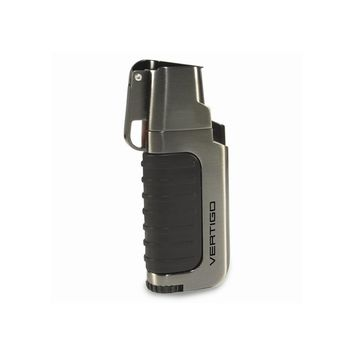 Vertigo Trek Gunmetal Twin Flame Torch Lighter