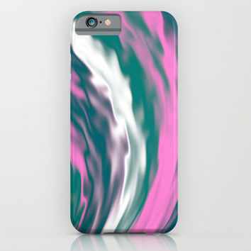 Colorful cold flames abstraction. Pink, white, blue and purple abstract flows. iPhone & iPod Case by Natalia Bykova