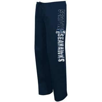 Seattle Seahawks Ladies Lateral Spirit Fleece Pants - College Navy