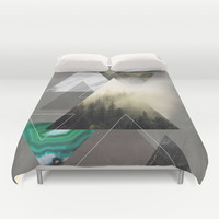 Triangles Symphony Duvet Cover by Cafelab