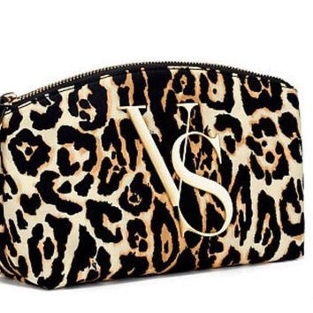 Victoria's Secret Leopard Print Large Cosmetic Bag