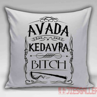 Avada Kedavra Harry Potter Magic Spell Throw Pillow for the Home Decor