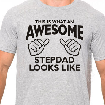 Fathers Day gift Stepdad GIFT This is what Awesome Stepdad Looks Like Stepfather Gift Father's Day Gift Stepdad t Shirt from kids Dad tshirt