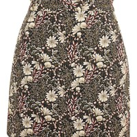 Tapestry High Waisted Frill Mini Skirt - New In Fashion - New In
