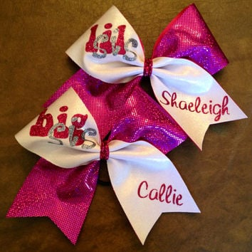 Cheer Bows - Personalized Big Sis Little Sis