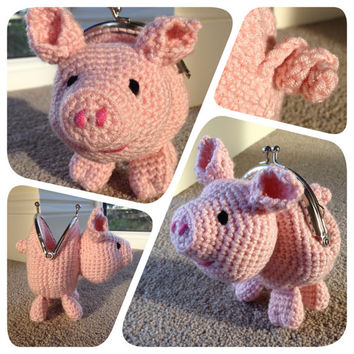 Pig Coin Purse Crochet Pattern