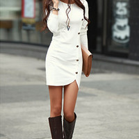 Autumn Winter Warm Women Cotton Bottomed Dress Ladie's Evening Clothes Party Long Sleeve Casual Dress Women Clothing