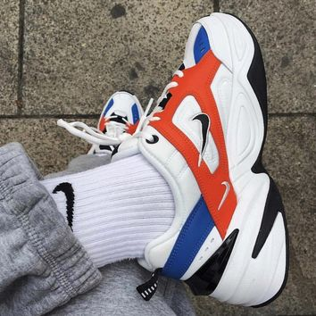 Nike Air Monarch 4 M2K Tekno Women's Shoes Running Retro old Sneakers White Blue Red