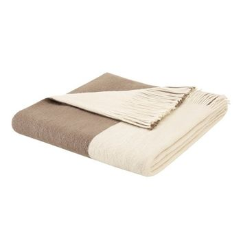 Driftwood Color Block Fringed Throw