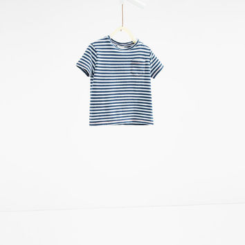Striped pocket T - shirt-View all-T-SHIRTS-BABY BOY | 3 months-3 years-KIDS | ZARA United States