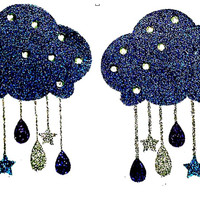 Love and Madness Crazy Glitter Clouds Pasties