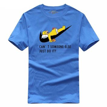 Mens Casual Funny Homer Simpson Can't Someone Else Just Do It T-Shirt