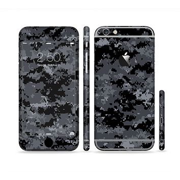 The Black Digital Camouflage Sectioned Skin Series for the Apple iPhone 6