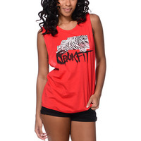 Trukfit Girls Foundation Red Muscle Tank Top at Zumiez : PDP
