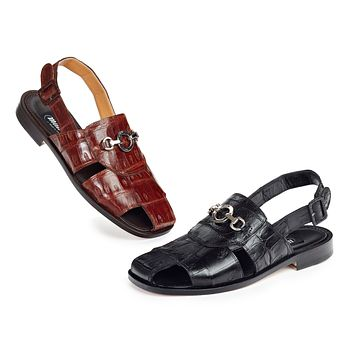 Mauri 1880 Marzio Baby Crocodile Sandals