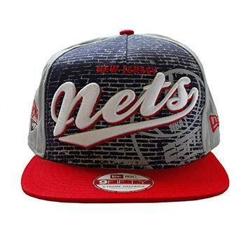 New Jersey Nets NBA Basketball Team Snapback Grey