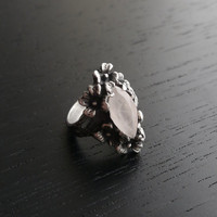 XMAS SALE Nightshade Ring - Rose Quartz