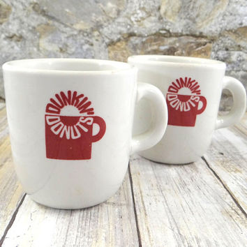 Vintage Dunkin Donuts Coffee Mugs