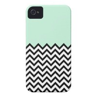 Mint Green Color Block Chevron iPhone 4 Case from Zazzle.com