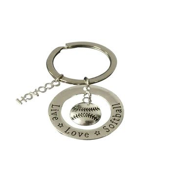Softball Coach Keychain